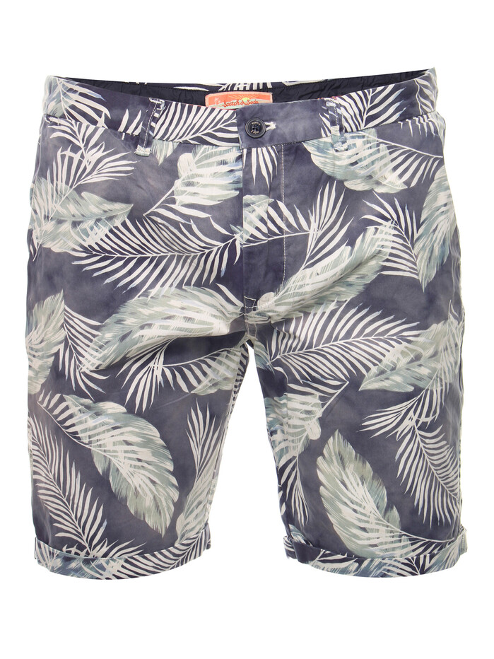 Bleached short all-over print