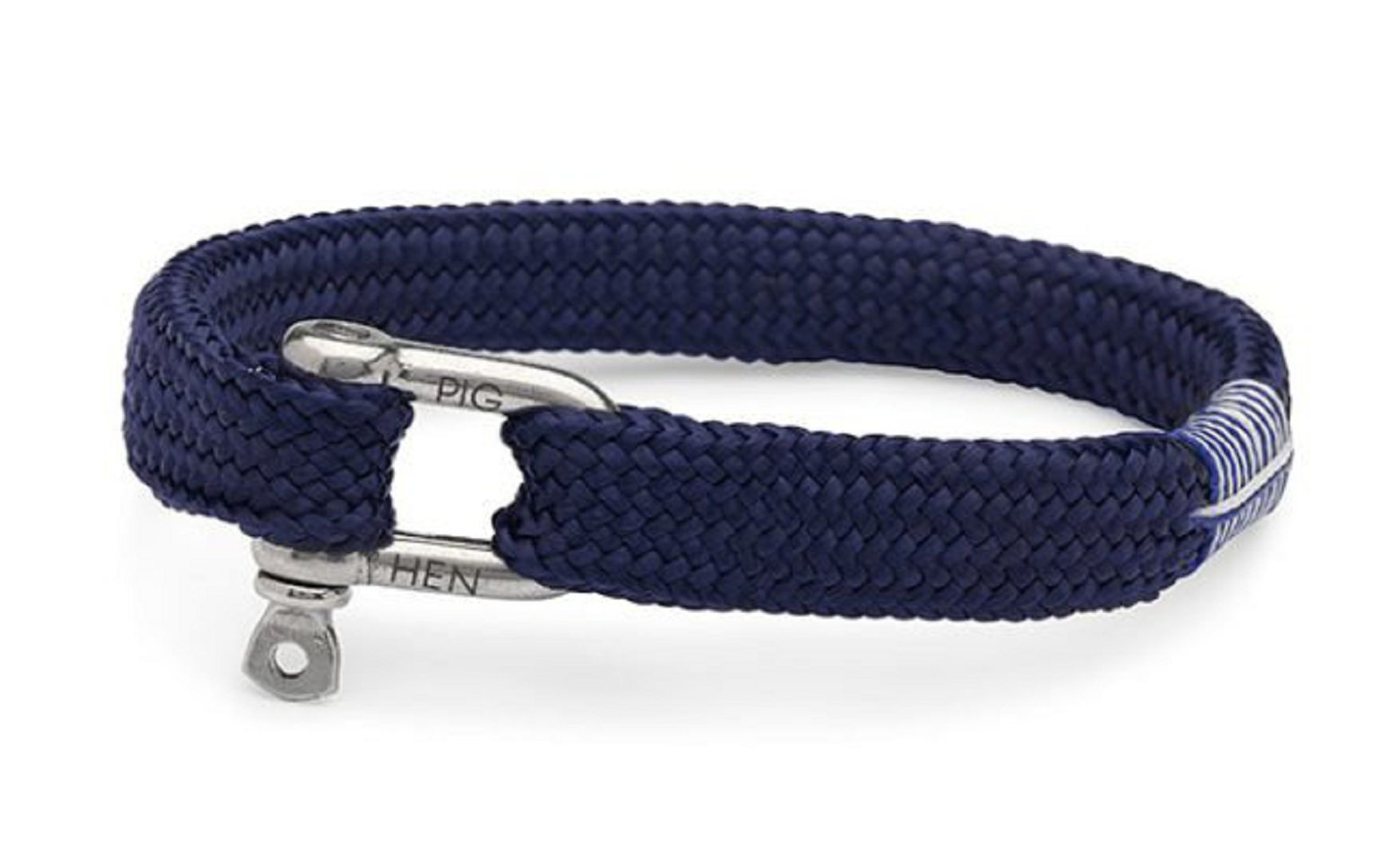 Sharp simon navy silver shackl